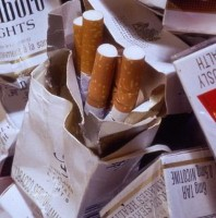 Cigarette packets are the scourge of cleaning agencies