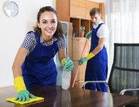 Get a house cleaning routine in place