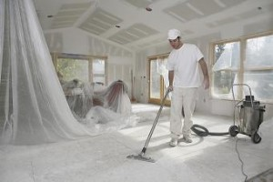 Get the cleaners in after building work