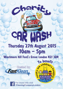 Charity Car Wash hosted by FastKlean to benefit Noah's Ark Children's Hospice