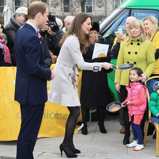 Kate Middleton Tossing Pancakes