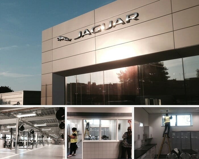 Sparkle clean - Jaguar & Land Rover car dealership in Barnet, London