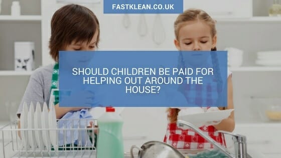children helping around the house