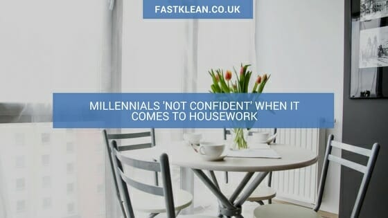 Millennials 'not confident' when it comes to housework