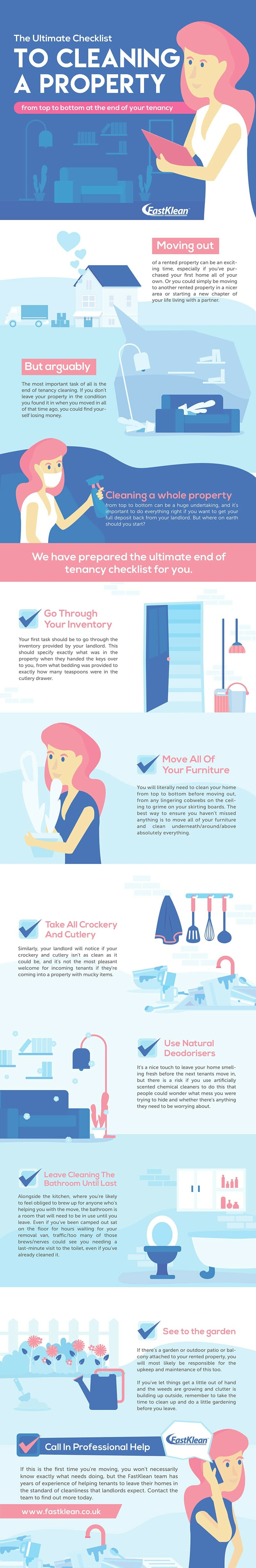 The Ultimate End of Tenancy Checklist + Infographic