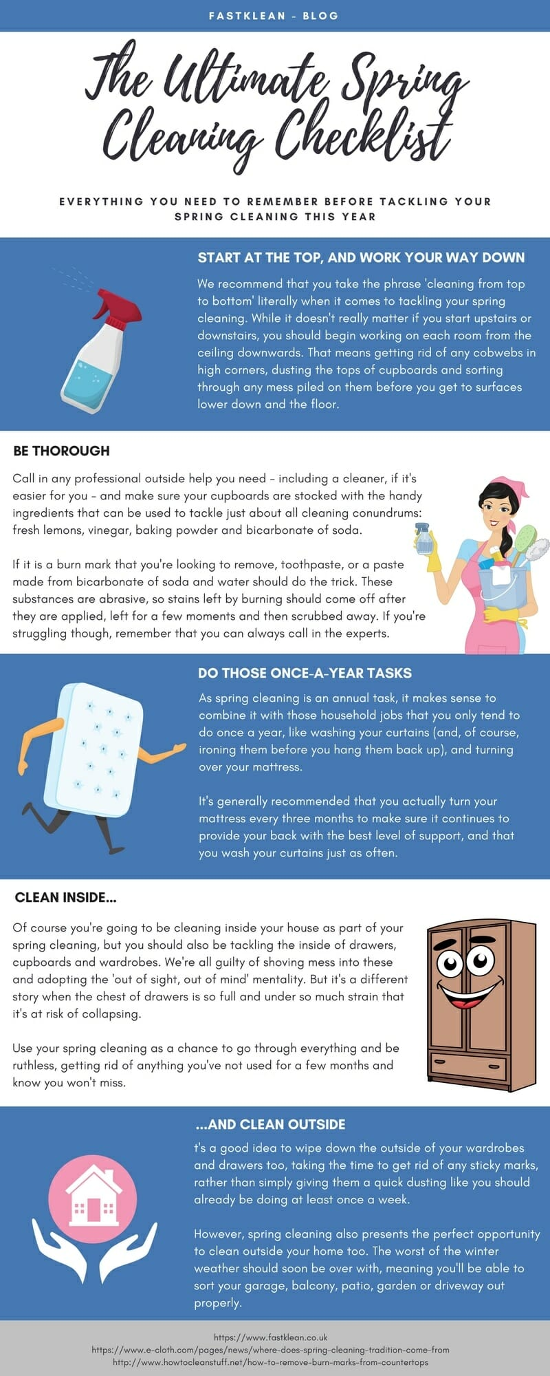 The Ultimate Spring Cleaning Checklist Infographic
