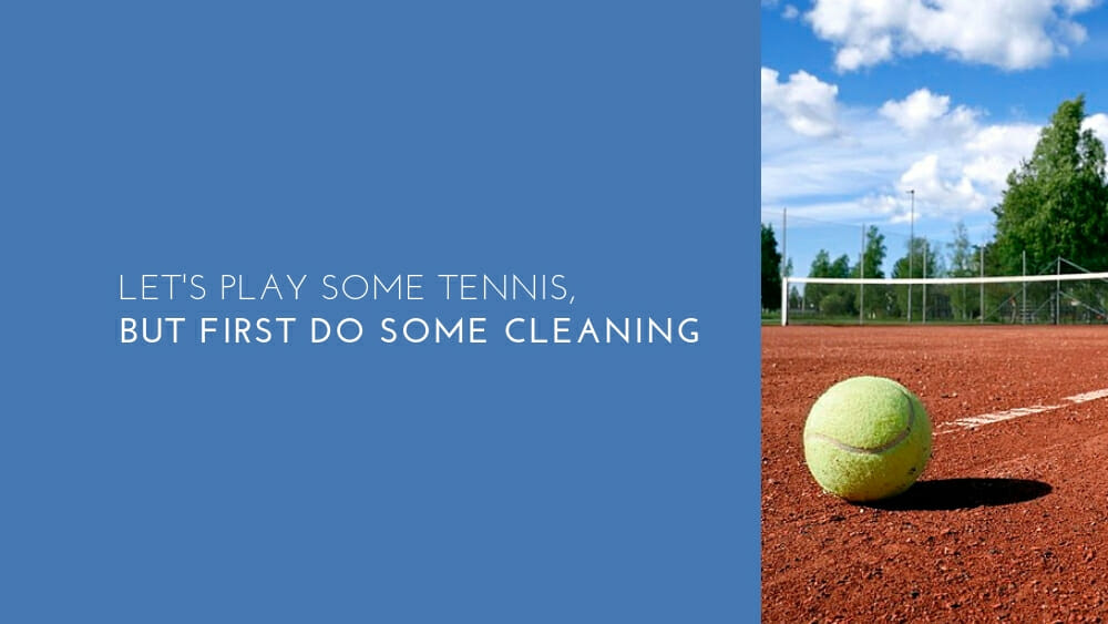 One off deep cleaning service for a tennis club in London