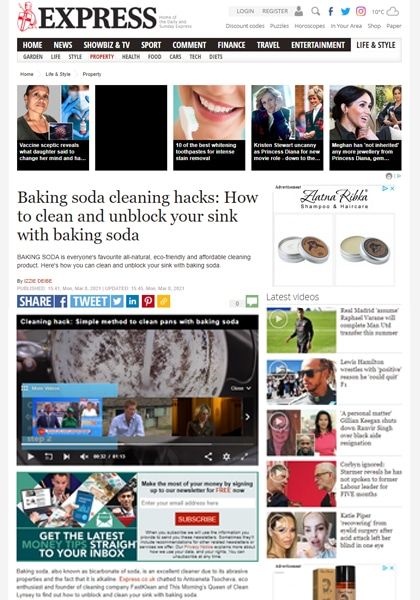 Baking soda hack