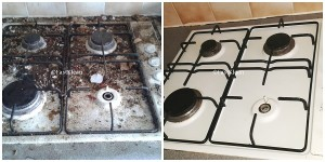 Oven Cleaning Before/After 1