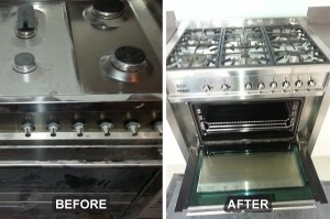 Oven Cleaning Before/After 7