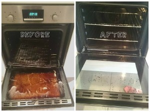 Oven Cleaning Before/After 2